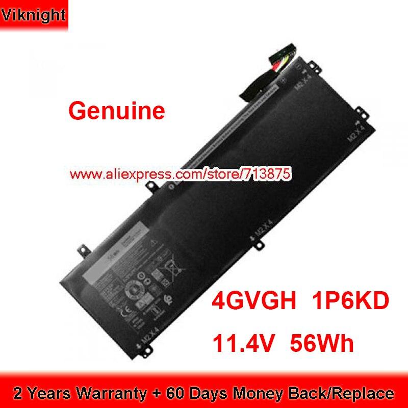 XPS 9550 15-9550-D1528 RRCGW 4 56Wh GVGH 11.4V 4666mAh