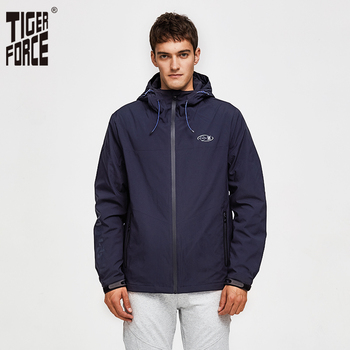 Tiger Force 2019 Men Spring Jacket Casual Hooded Windbreaker Windproof Men's Bomber Cotton Padded Coat Outerwear - discount item  59% OFF Coats & Jackets