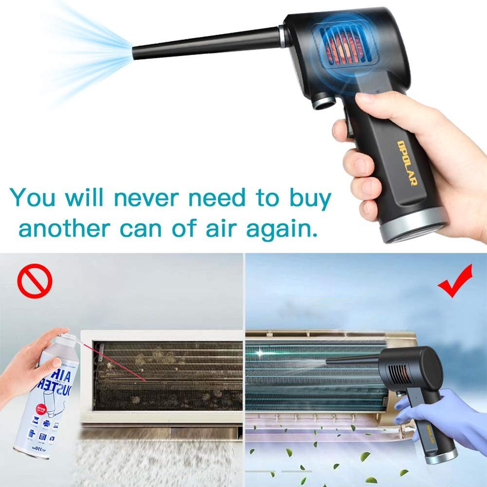Cordless AIR Duster Replacement for Compressed Spray Gas Cans Rechargeable Blower for Computer Keyboard and Electronics