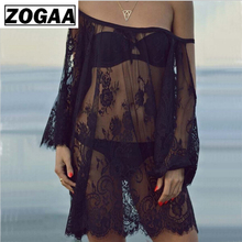 ZOGAA Saida De Praia 2019 Beach Cover Up Pareo Playa Coverup Dress Vestido Livre Swimsuit Wear Swimwear Lace Women Beachwear