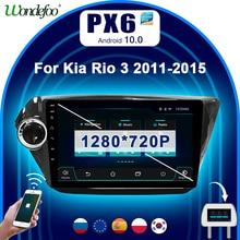 Car radio 2 din Android 10 PX6 For kia rio 3 4 2011-2018 car screen navigation GPS screen