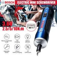 BOSCH-Mini destornillador eléctrico GO Original, batería de iones de litio de 3,6 V, taladro eléctrico inalámbrico recargable con juego de brocas