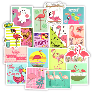 Image 2 - 50 PCS Flamingos Sticker Lovely Dream Cartoon Girl Animals Stickers for Mac DIY Notebook Luggage Fridge Guitar Laptop Decals