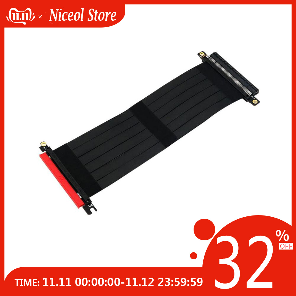 PCI Express 3.0 High Speed 16x Flexible Cable Riser Card Extension Port Adapter Graphics Video Card Extend Cord Cable For Mining