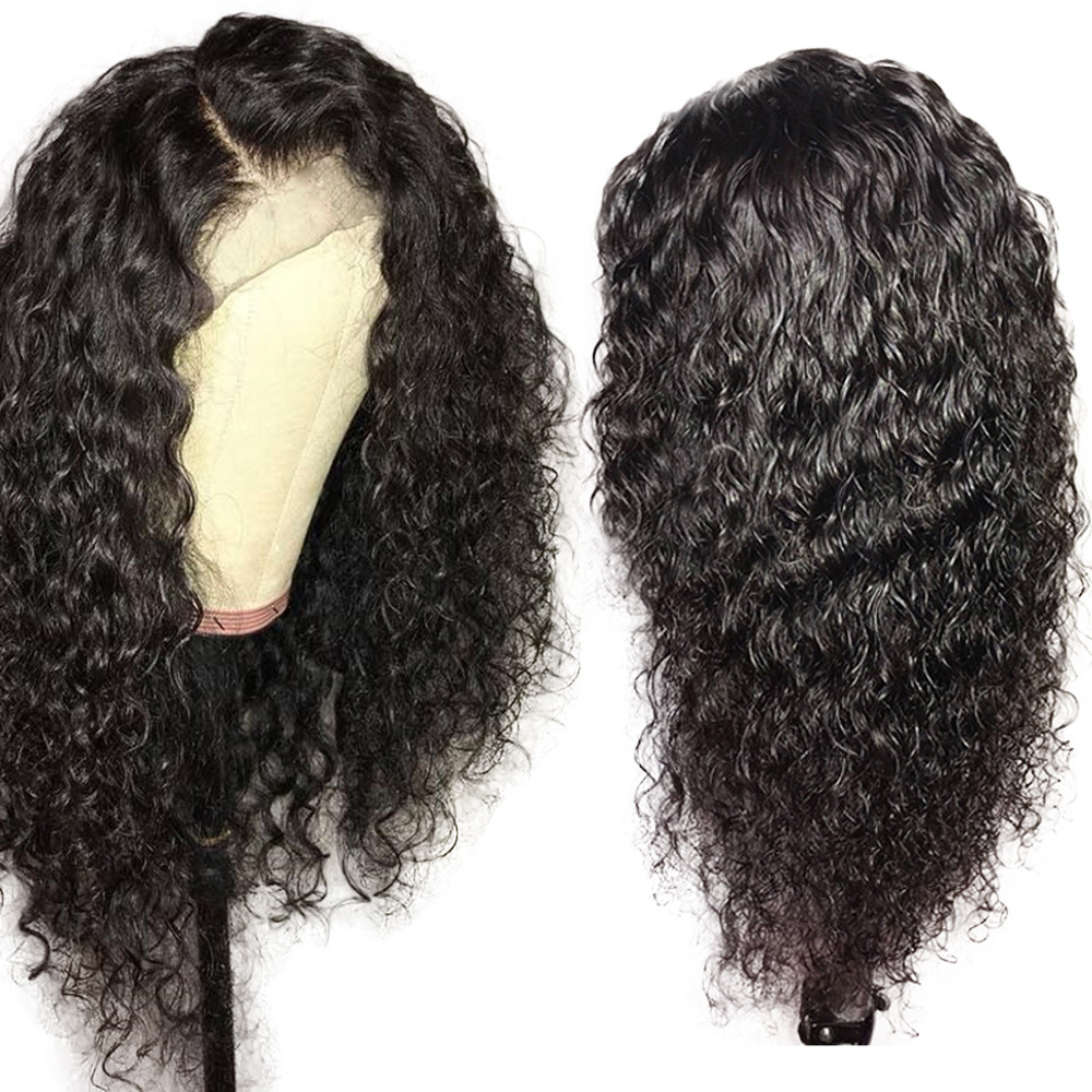 Curly Human Hair Wig Pre Plucked 13x4 Lace Front Wigs Brazilian Remy Hair For Women With Baby Hair Bleached Knots 150%  Eseewigs