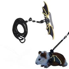 Polyester Multi Purpose Outside Training Rope 1Pcs for Hamster Dutch Pig Black Traction