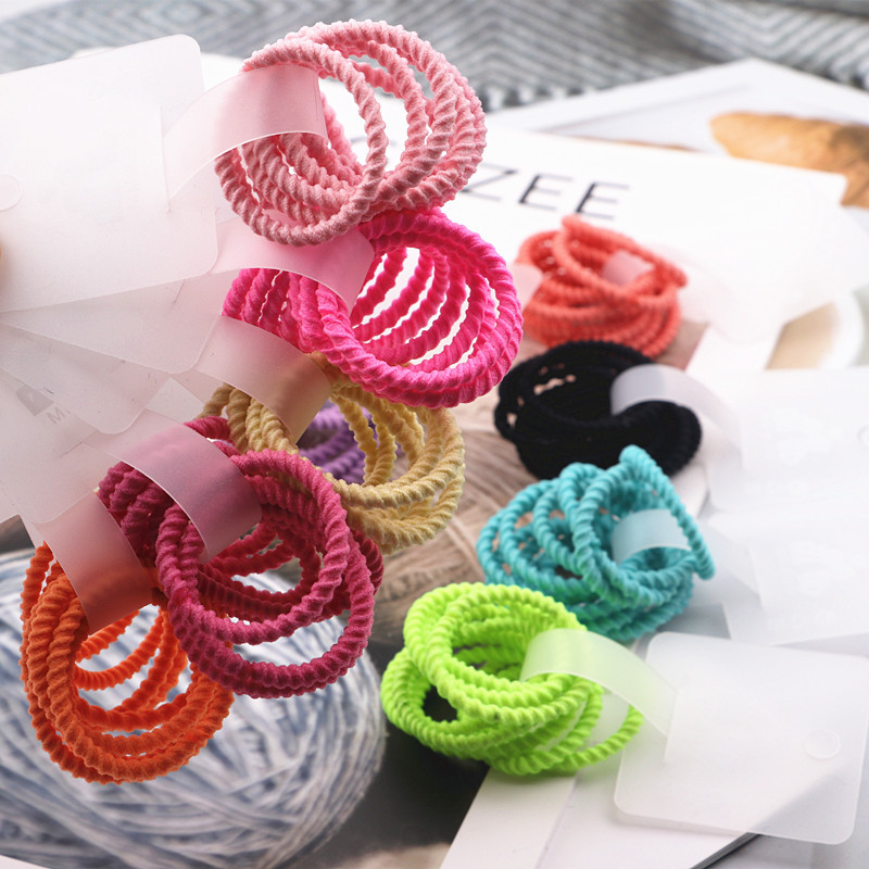 10PCS New Cute Colour Princess Headwear Kids Elastic Hair Bands Children Ropes Girls Accessories Baby Headdress