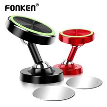 FONKEN Two Way Adjust Car Phone holder Luminous Magnetic Holders 360 Degree Magnet Universal in Mobile Mount Desk Stands