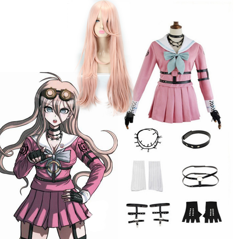 Anime Danganronpa V3 Cosplay Miu Iruma Cosplay Costumes Wig School Girls Uniform Dangan Ronpa Halloween Costumes For Women CS234