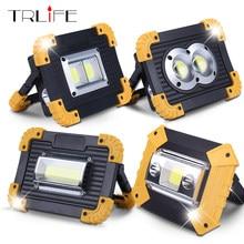 Lampe de poche Led Portable Rechargeable par USB, projecteur, lanterne de travail, de voyage, d'extérieur, pour Camping, avec batterie 18650, 30W
