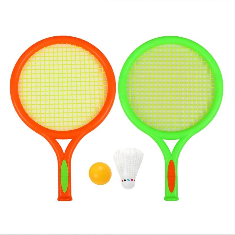Toys Plastic Badminton Racket Children Kids Play Game Plastic Tennis Badminton Racket Sports Toy Set Outdoor Leisure Activity