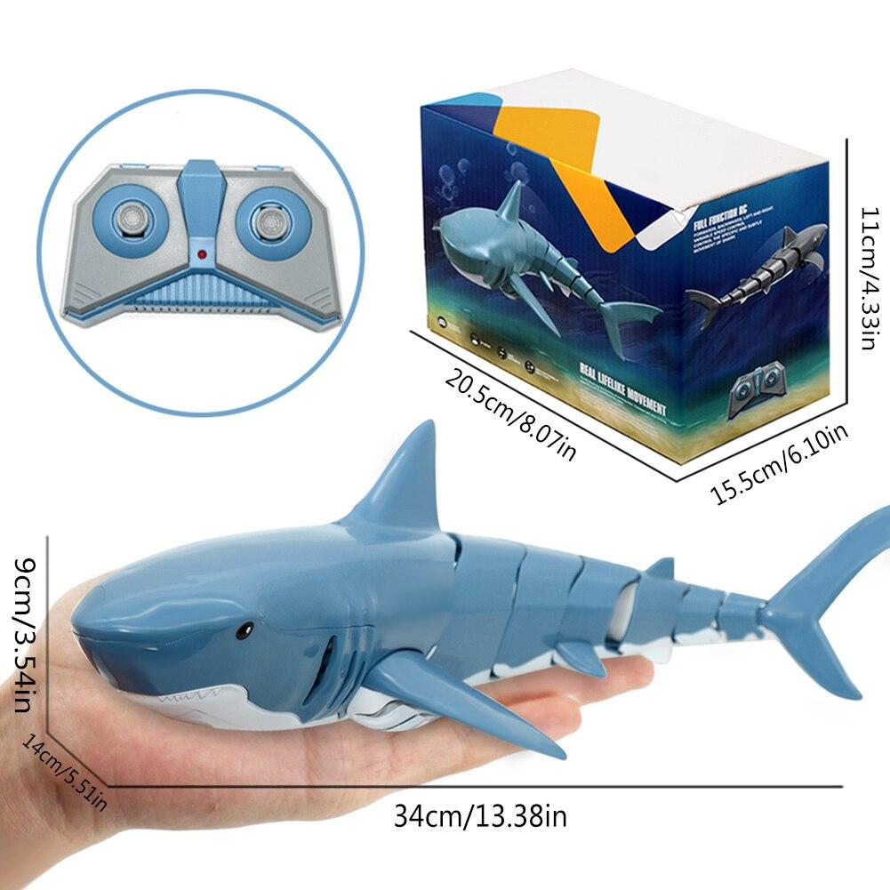24g rc simulacao tubarao brinquedo nadar peixe 04