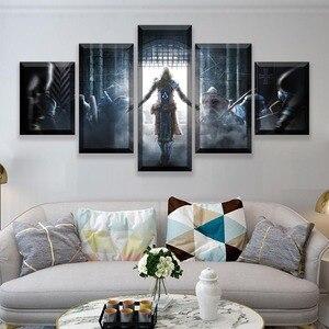 5 piezas cartel de película lienzo pared arte Assassins Creed pintura arte abstracto juego de imágenes Posters impresiones Quadros Decoracao