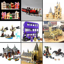цена на Movie Harri Castle Hall Hogwartse Express 75951 75953 75954 75955 75948 Model Building Block Bricks Toys