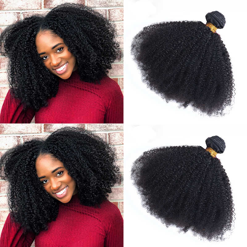 Brazilian Afro Kinky Curly Hair Weave 10A virgin 100% Natural Remy Human Hair Bundles Extension 3B 3C Dolago Hair Products