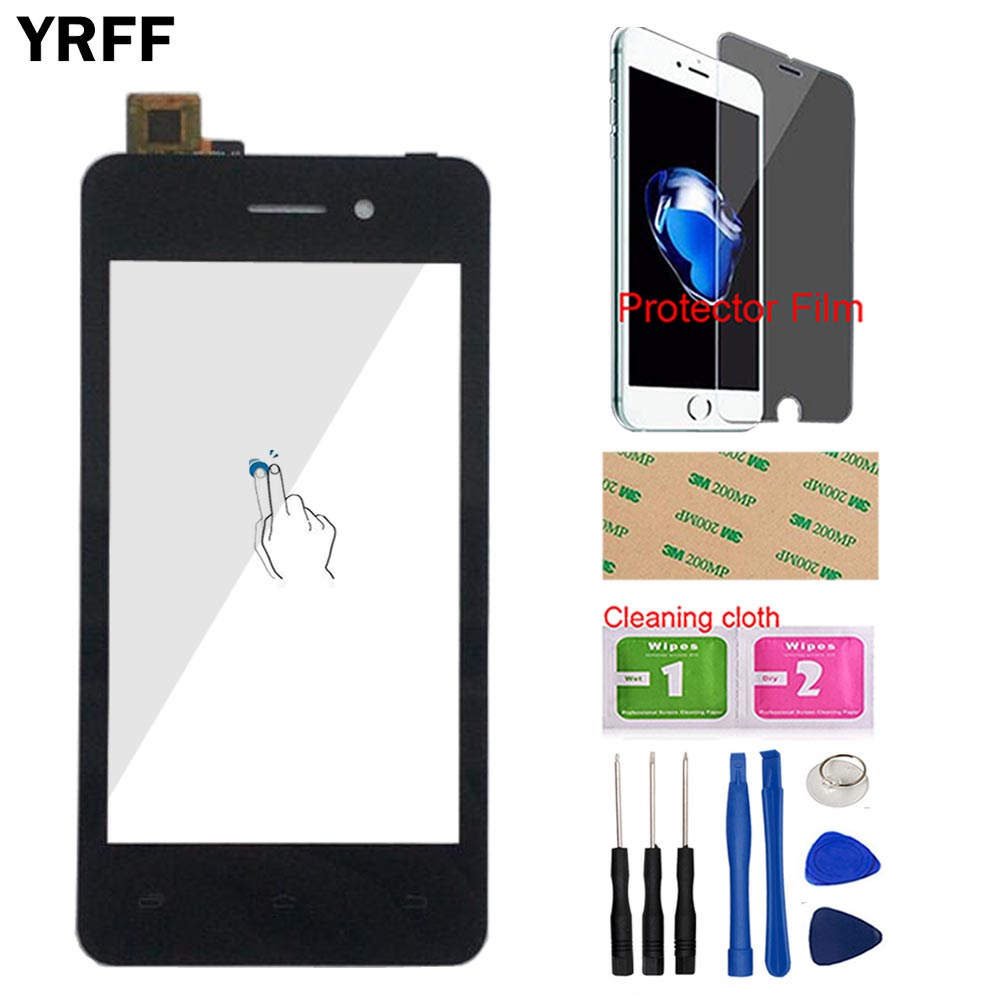 4.0'' Touch Screen For Micromax Bolt Q301 Touch Screen Front Glass For Micromax Q301 Digitizer Panel Sensor Tools Protector Film