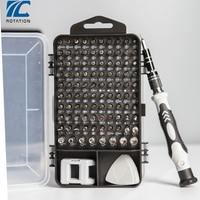 Juego de destornilladores de precisión, Herramientas de reparación móvil 115 en 1, multifunción, para instalar en ordenador y Pc