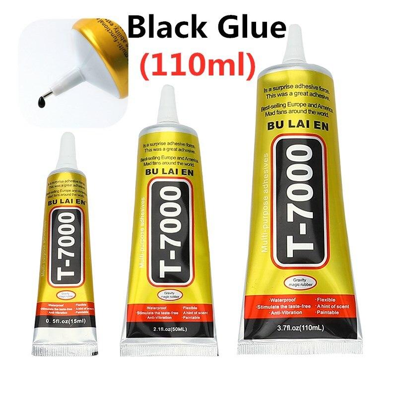 T7000 110ml Glues Multipurpose Adhesives Super Glues  Black Liquid Epoxy Glues For DIY Crafts Glass Phone Case Metal Fabric