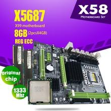 X58 Combos LGA1366 Atermiter X5687 Ddr3-Ram PC3 CPU 1333mhz 2pcs 4GB 8GB Heat-Sink