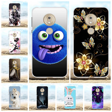 For Motorola Moto G7 Play Cover Soft TPU Silicone Case Flowers Patterned Bumper Capa