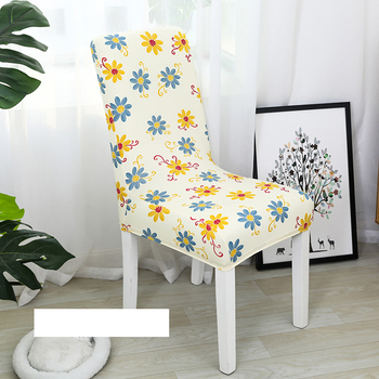 Spandex Elastic Printing Dining Chair Slipcover Removable Kitchen Seat Case Stretch Chair Cover Anti-dirty housse de chaise 1pc 1