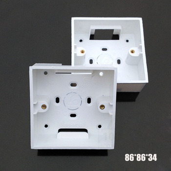 2 30 قطعة 86 نوع صندوق وصلات سطح جبل أسفل مقبس مفاتيح كهرباء حائط الأبيض صندوق Pvc 868634 مللي متر
