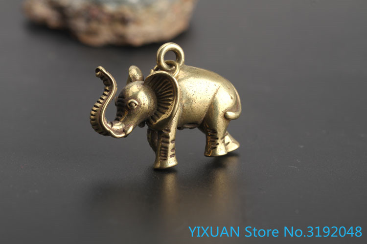 Elephant Copper Pendant handicraft collection Statues & Sculptures     - title=