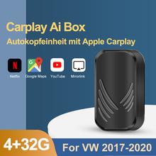 2021 CarPlay Android Ai Box Для VW 4 + 32G автомобильный мультимедийный плеер, воспроизведение автомобиля, USB Youtube, беспроводной MirrorLink Bluetooth 5,0