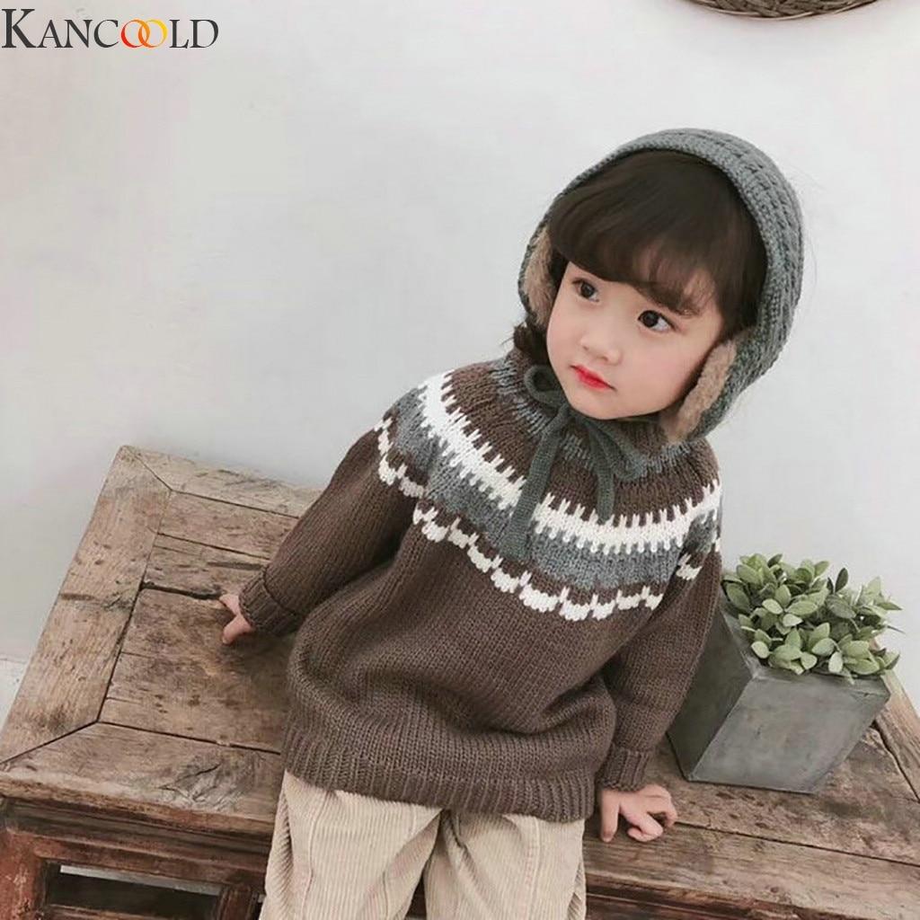 KANCOOLD Simple Solid 2 In 1 Scarf Earflap Winter Autumn Warm New Plush Ear Muffs Cute INS Fashion Warmer Earmuff Warm 3