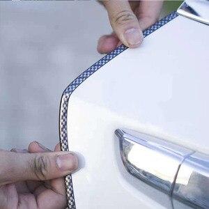 Image 4 - VERKAUF 10M Auto Tür Rand Guards Streifen U Form Carbon Fiber Dichtung Seite Türen Formteile Scratch Protector Auto zubehör Dropshipping