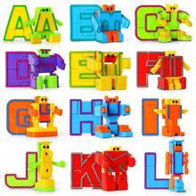 26 красочных алфавитных роботов abc Обучающие Игрушки Трансформеры