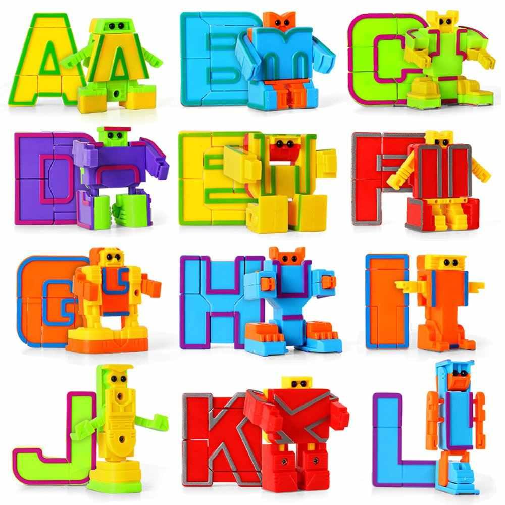 20 bunte Alphabet Roboter ABC Lernen spielzeug Transforming ...