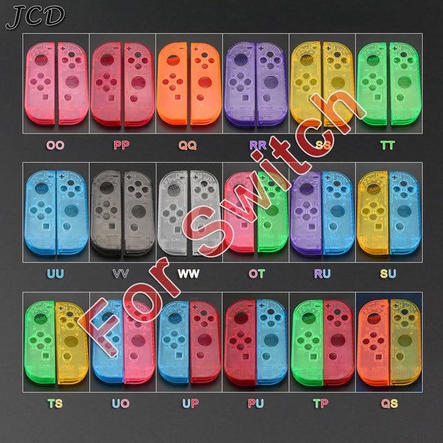 Custodia JCD custodia Cover per Nintendo Switch NS NX Joy Con Controller custodia protettiva di ricambio trasparente rosso blu