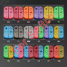JCD Housing Shell Case Cover For Nintendo Switch NS NX Joy Con Controller Transparent Red Blue Replacement Protection Cases
