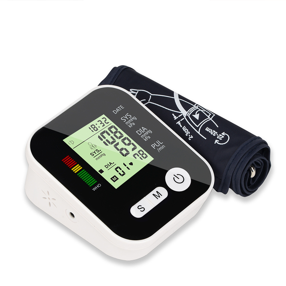Electric Medical Equipment Arm Tonometer Blood Pressure Monitor Automatic Apparatus for Measuring Heart Beat Meter