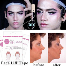 80/40/8pcs Lift Face Sticker Instant Waterproof V Shape Breathable Makeup Adhesive Tape Invisible Lifting Tighten Chin 2021 Slim