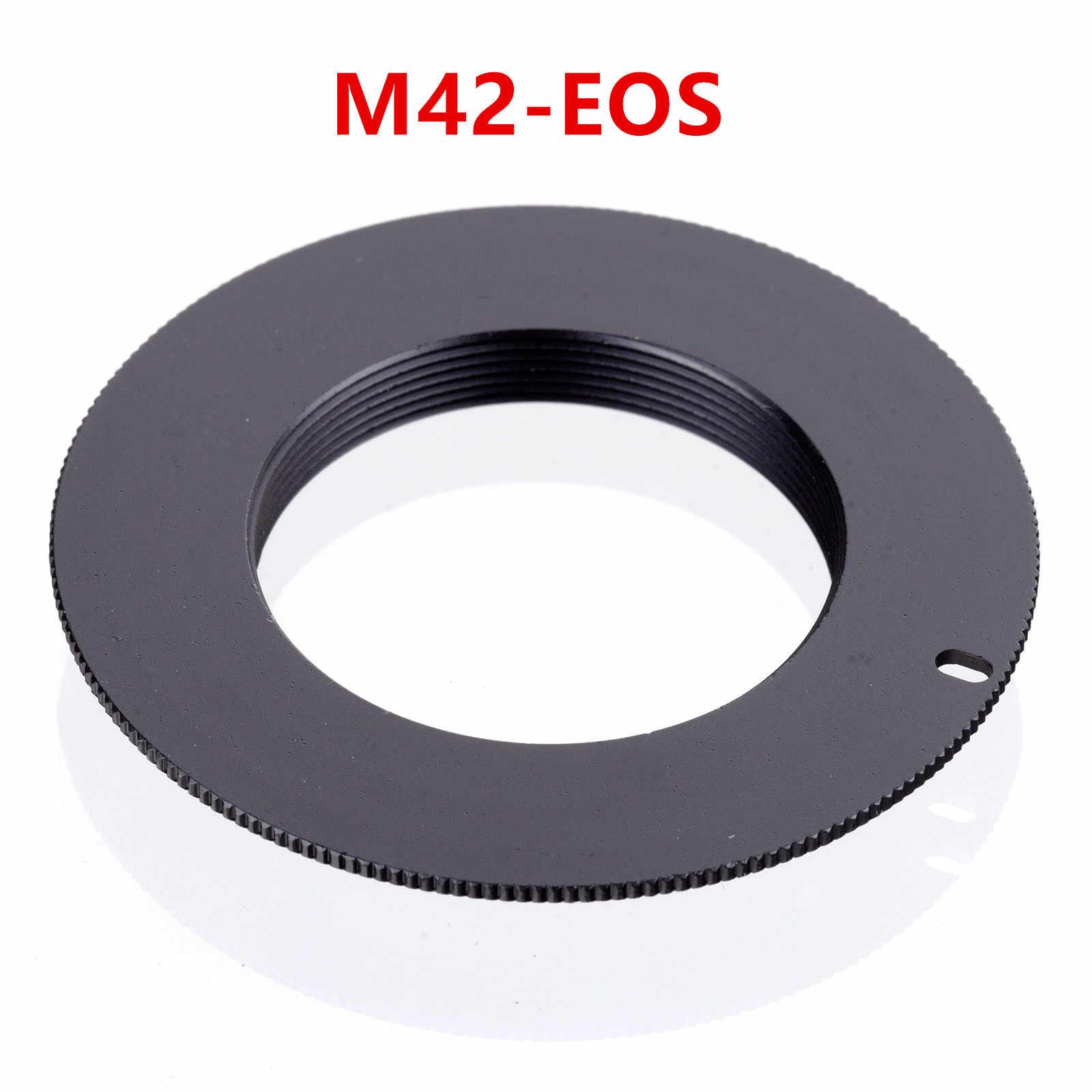 Adaptador de lente de montaje de tornillo M42 de aluminio para montura de M42-EOS, anillo Rebel EF para Can & n XSi T1i T2i 1D 550D 500D 60D 50D 7D 1000D