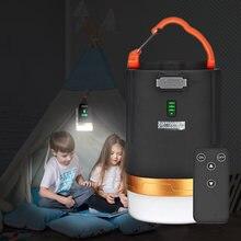 Luz de acampamento led de carregamento usb lanterna portátil led tenda luz powerd para telefone trabalhando emergência com ímã pendurado