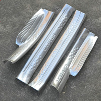 High grade stainless steel door frame recessed threshold 4 / set auto accessories for Captur 2014 2015 fast ship