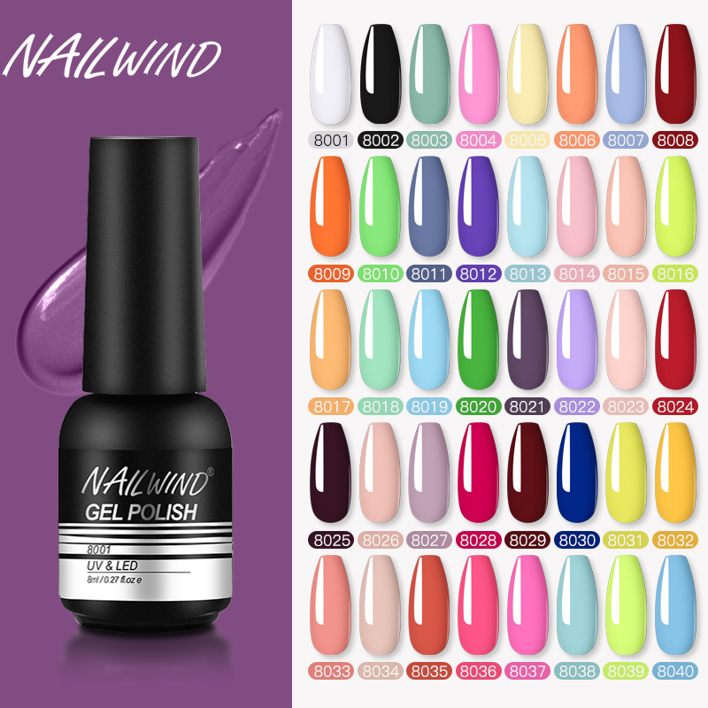 Nailwind Gel Nail Polish Varnishes Pure Color Semi Permanent Base top Need UV LED lamp Manicure Paint Hybrid nails gel polish(China)