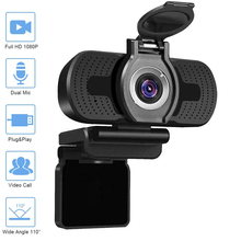 Webcam HD Web-Camera Live-Broadcast Conference-Work Video-Calling 1080P Microphone-Rotatable-Cameras