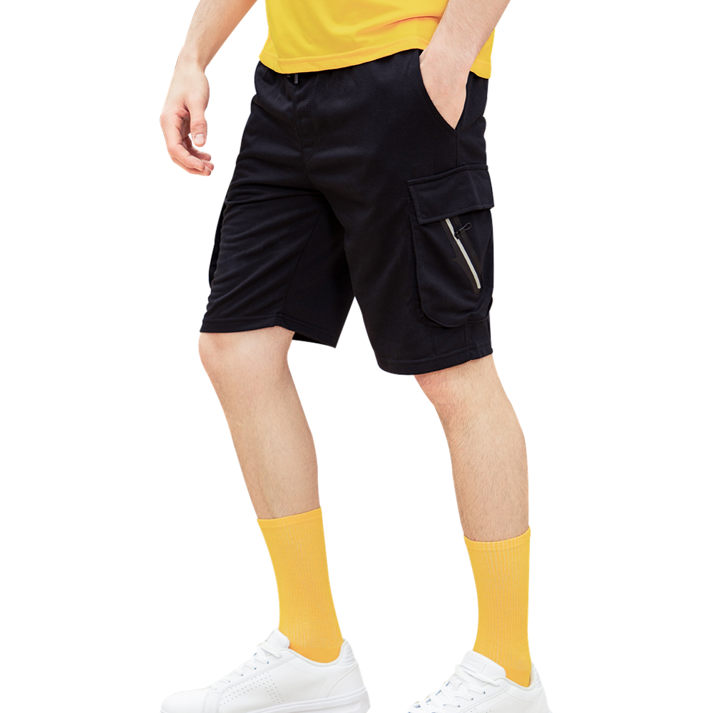 Summer Men Casual Shorts 2020 New Cargo Shorts Elastic Waist Breathable Male Solid Knee Length Tactical Short Pants Drawstring
