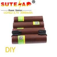 100% Original para cigarrillo electrónico LG Hg2 18650, batería recargable de alta descarga de 3000 mAh, 30A de alta corriente + de níquel de DIY