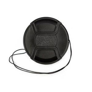 Image 4 - 30 יח\חבילה 49 52 55 58 62 67 72 77 82 86mm מרכז צבוט Snap on כיסוי כובע מצלמה לן כובע לוגו עבור canon/ניקון מצלמה עדשה
