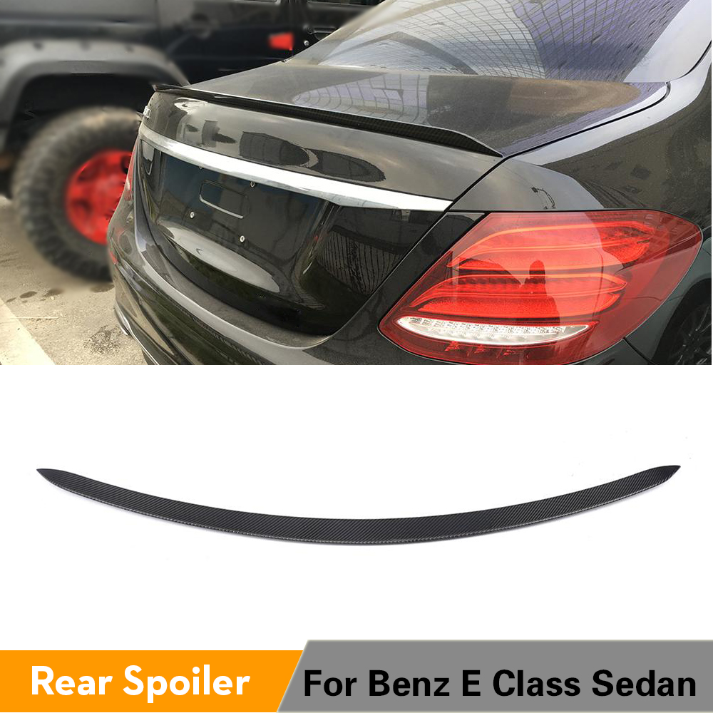 Matte REAL Carbon Fiber Rear Spoiler For 2017-18 Mercedes E250 E300 E400 W213