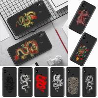 Dragon Chinese art totem cool Phone Case per Xiaomi Redmi mi note max 3 5 6 8 9 10 t S SE lite pro borse mobili in Silicone morbido