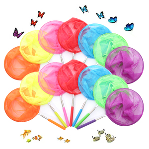 Kids Fishing Net Rainbow Telescopic Butterfly Net,Insect Catching Nets for Children Catching Insects Bug Small Fish(China)