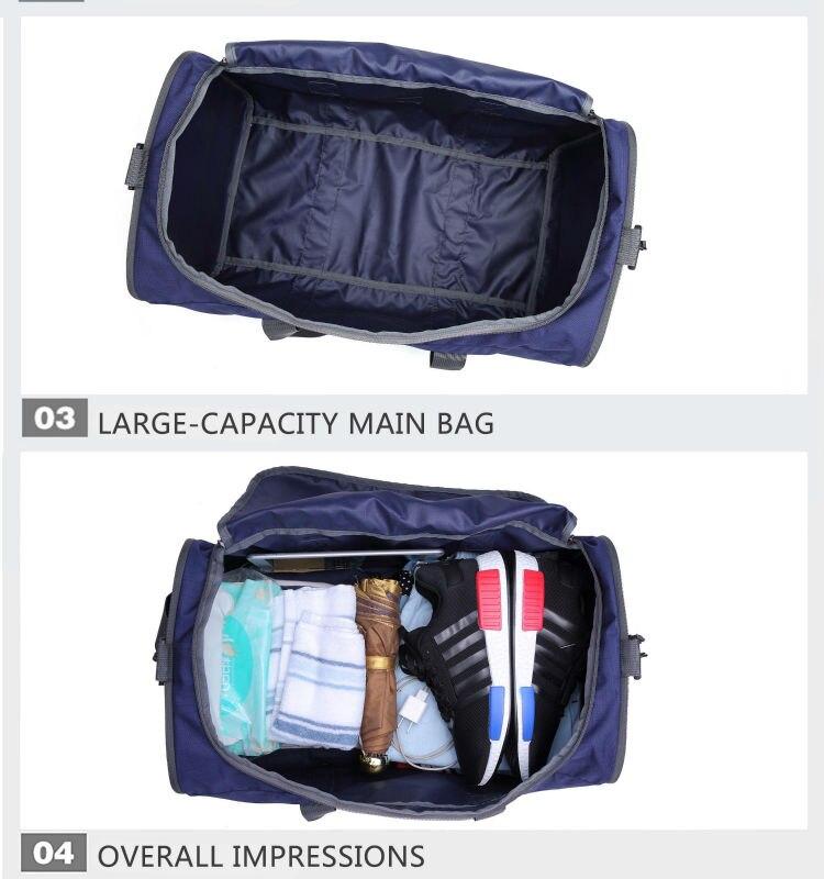 náilon casual viagem duffel preto saco de viagem
