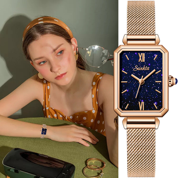 Women Watches NEW Square Fashion Montre Femme Luxury Ladies Ultra-thin Waterproof Bracelet Watches For Women Leather Strap Clock ibso 7 6mm ultra thin women watches 2018 fashion waterproof quartz watch women luxury genuine leather strap montre femme