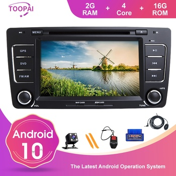 TOOPAI Android 10 For Skoda Octavia Yeti 2009-2013 Auto Radio GPS Navigation Car Multimedia Player DVD SWC IPS Stereo Head Unit
